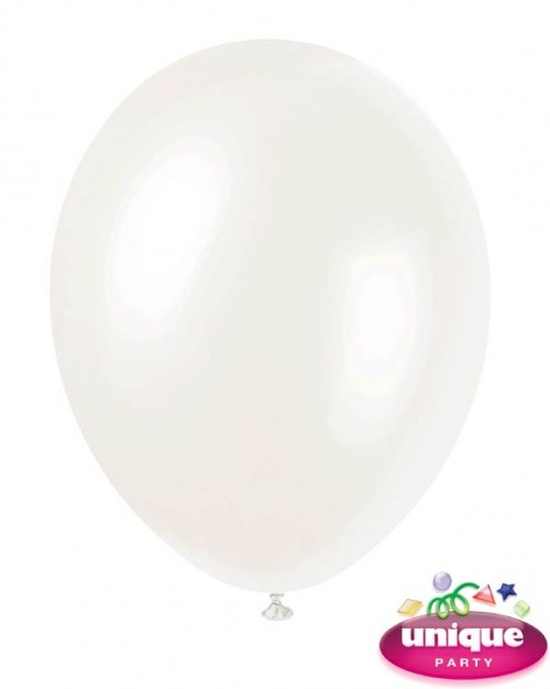 12'' Iridescent White - Pearlized Premium (Bag of 50)