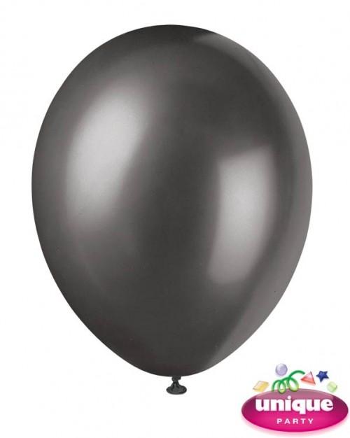 "12"" Ink Black - Pearlized Premium (Bag of 50)"
