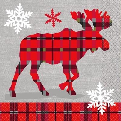 Luncheon Napkins - Rustic Plaid Christmas 20CT.