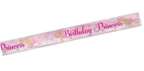 Pink Princess Foil Banner 1ct