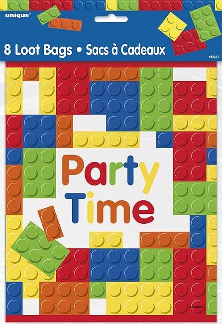 Loot Bags - Building Blocks - 8ct. 24PK.