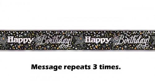 Glittering Birthday Foil Banner 12ft.