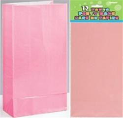 Paper Party Bags - Pastel Pink 12ct