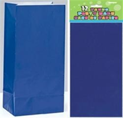 Paper Party Bags - Royal Blue 12ct