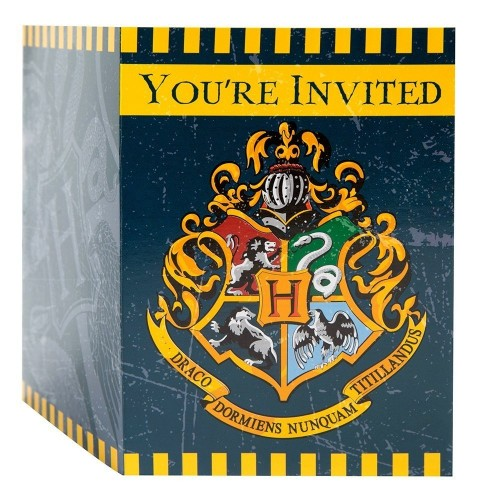 Harry Potter Plastic Invitations 8ct