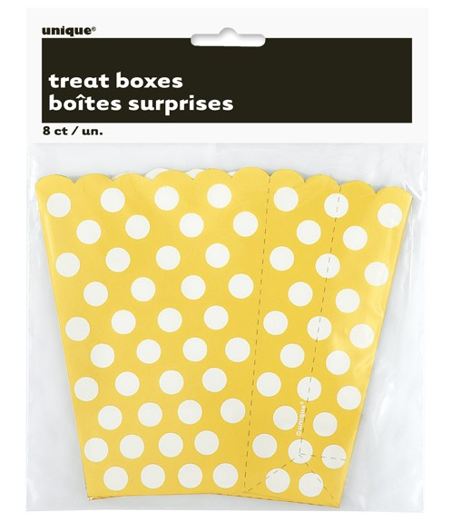 Sunflower Yellow. Dots Treat Boxes 8 CT.