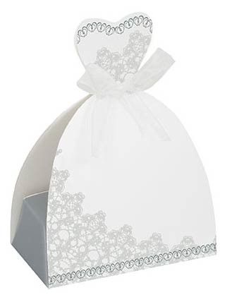Bride Favour Boxes - Wedding Favours 8CT. 12 PK