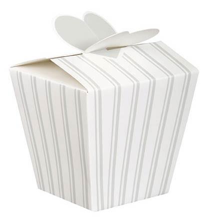 Wedding Stripe Favour Boxes - Wedding Favours 4 CT.