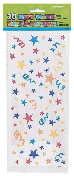"""Stars Cello Bag 11""""H x 5""""W - 20ct."""