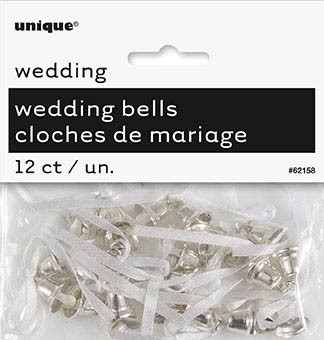 Silver Wedding Bells - Wedding Favours 12 CT.