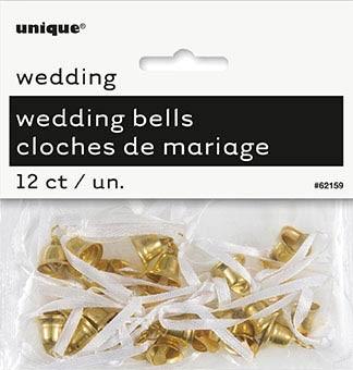 Gold Wedding Bells - Wedding Favours 12 CT.