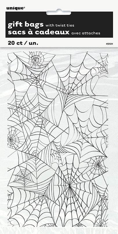 """Spider Web Cello Bags 5"""" x 9"""" 20ct"""