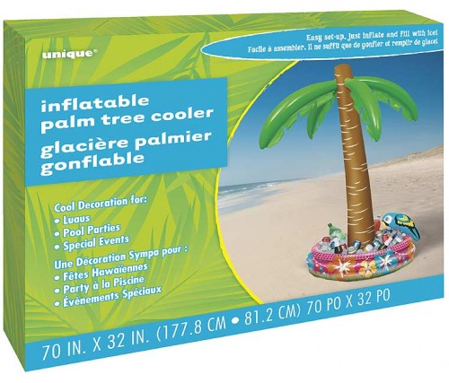 """Inflatable Palm Tree Cooler 70"""" H"""