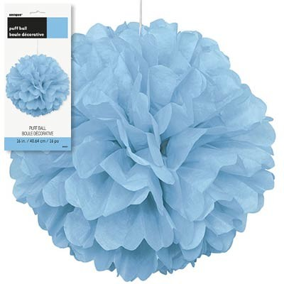 Puff Decor 16'' 1CT. Powder Blue