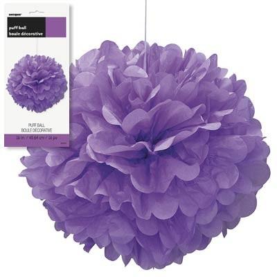 Puff Decor 16'' 1CT. Pretty Purple