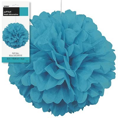 Puff Decor 16'' 1CT. Caribbean Teal