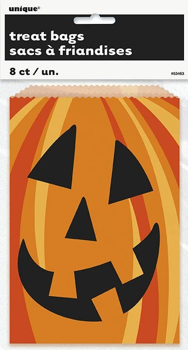 "Happy Pumpkin Cookie Bags 7 1/2""H x 5""W 8CT."