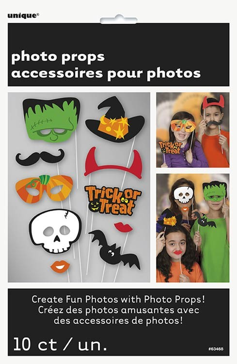 Trick Or Treat Photo Booth Props 10CT.