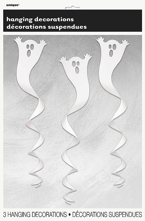 Ghost Hanging Spiral Decoration 3CT.