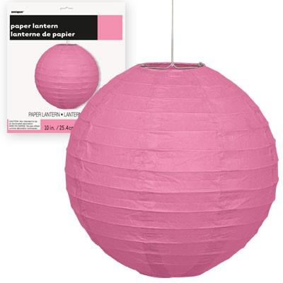 Paper Lanterns 10'' 1CT. Hot Pink