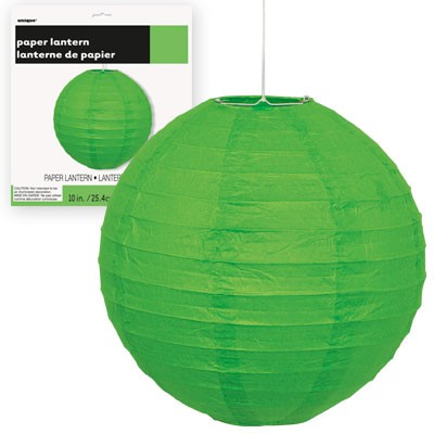 Paper Lanterns 10'' 1CT.  Lime Green