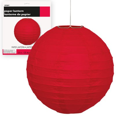 Paper Lanterns 10'' 1CT. Red