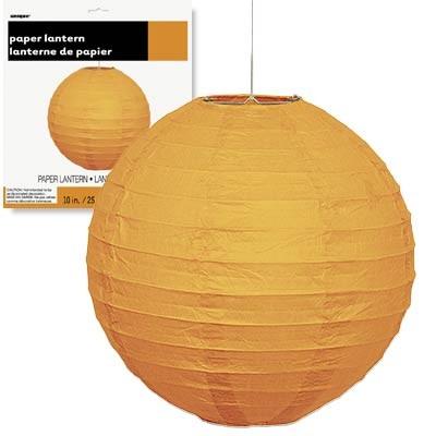 """Paper Lanterns 10"""" Orange 1CT."""