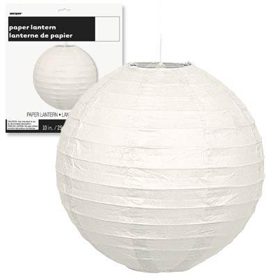 Paper Lanterns 10'' 1CT. White