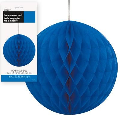 Honeycomb Balls 8'' 1CT. Royal Blue