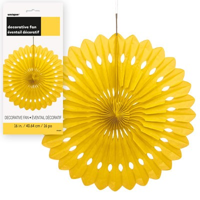 Decorative Fans 16'' 1CT. Yellow