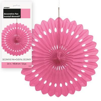 Decorative Fans 16'' 1CT. Hot Pink