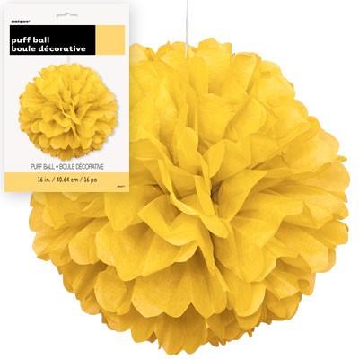 Puff Decor 16'' 1CT. Yellow