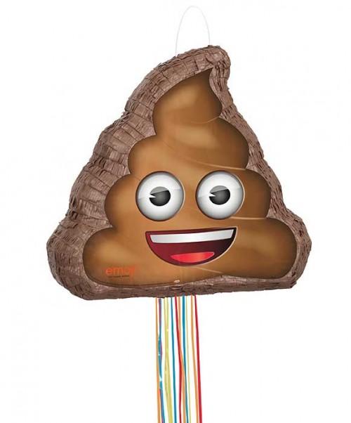"3D Pull Piñata - Poop emoji - 15¼""H x 18½""W"