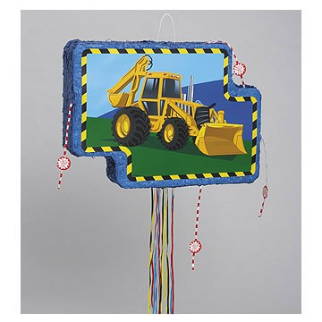 Construction Vehicle Pull Pop-Out Piñata