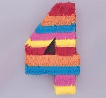 Numeral 4 Piñata