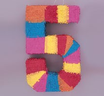 Numeral 5 Piñata
