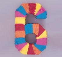 Numeral 6 Piñata