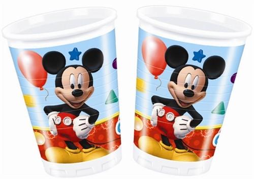 Playful Mickey Cups 200ml 8CT