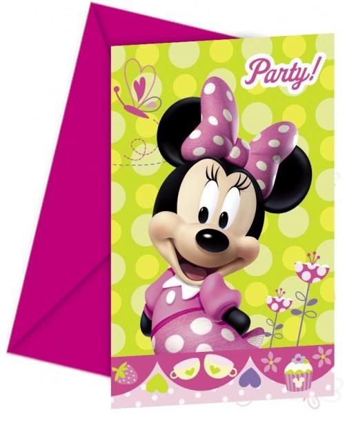 Minnie Bow-Tique Invitations & Envelopes 6CT