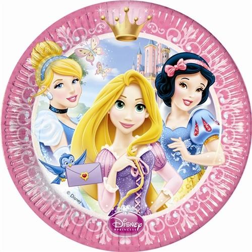 Disney Princess Glamour 9'' Plates 8CT.