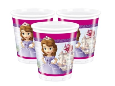 Sofia the First Plastic Cups 200ml 8CT