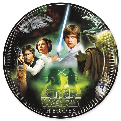 Star Wars Heroes 9'' Plates 8CT.