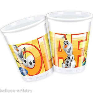 Olaf 200ml Cups  8CT