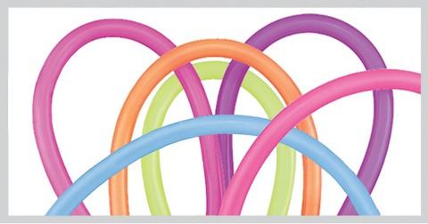 260Q - Neon Assortment Modelling Balloons Qualatex