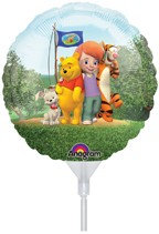 """My Friends Tigger & Pooh 9"""" Air Inflation Foil Balloon"""