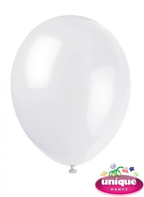 "12"" Linen White - Helium Quality Balloon 10 CT."