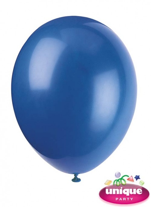 "12"" Evening Blue Latex Balloons 10 CT."