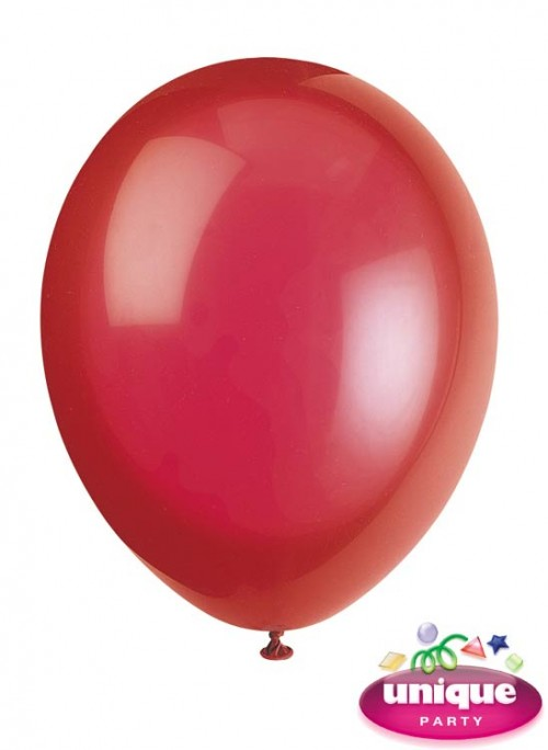 """12"""" Scarlet Red Crystal - Helium Quality Balloon 10 CT."""