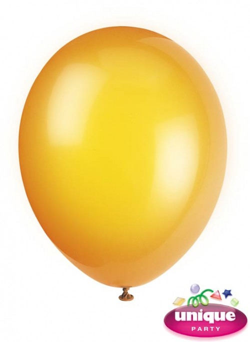 "12"" Citrus Orange Crystal - Helium Quality Balloon 10 CT."