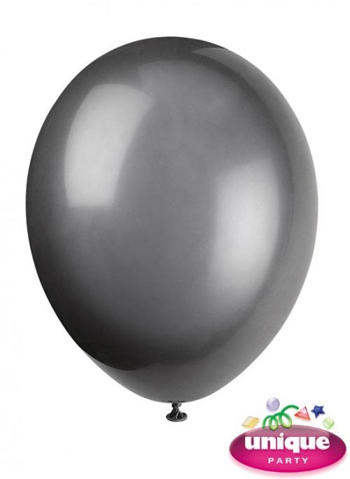 "12"" Phantom Black - Helium Quality Balloon 10 CT."
